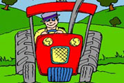Fast Tractor Coloring