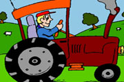 Sweet Tractor Coloring