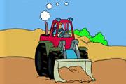 Tractor Excavator Coloring