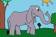 Beautiful Elephant Coloring
