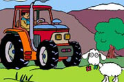 Cute Tractor Coloring