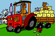 Lovely Tractor Coloring