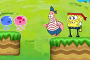 SpongeBob and Patrick Hunting Jellyfish