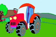 Super Tractor Coloring