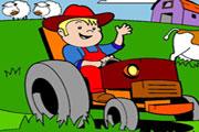 Farm Tractor Coloring