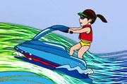 Jet Ski Coloring