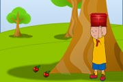 Caillou Apple Catch