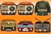 Old Radios Matching Pairs
