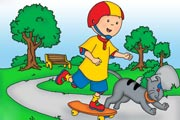 Skater Caillou Hidden Numbers