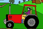 Tractor and Farmer Coloring